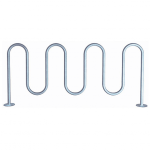 Galvanized 1 5.8 Surface Mount Wave Bike Rack