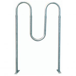 Galvanized 1 5.8 in In-Ground Wave Bike Rack