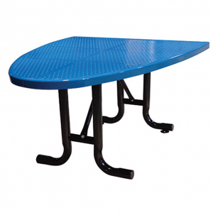 Perforated Semi-Oval Cafe Table