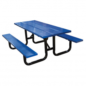 Perforated Steel Plank Picnic Table