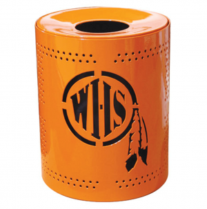 Personalized 32 Gallon Perforated Receptacle