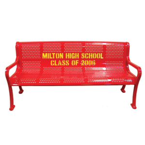 Personalized Multicolor Perforated Bench 1