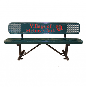 Personalized Multicolor Perforated Standard Bench. 1