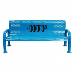 Personalized Multicolor Perforated U-Leg Bench. 1
