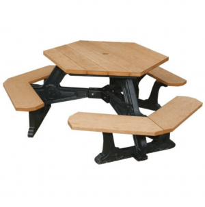 Recycled Plastic Hexagon Picnic Table.png 2