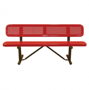 Standard Perforated Bench With Back