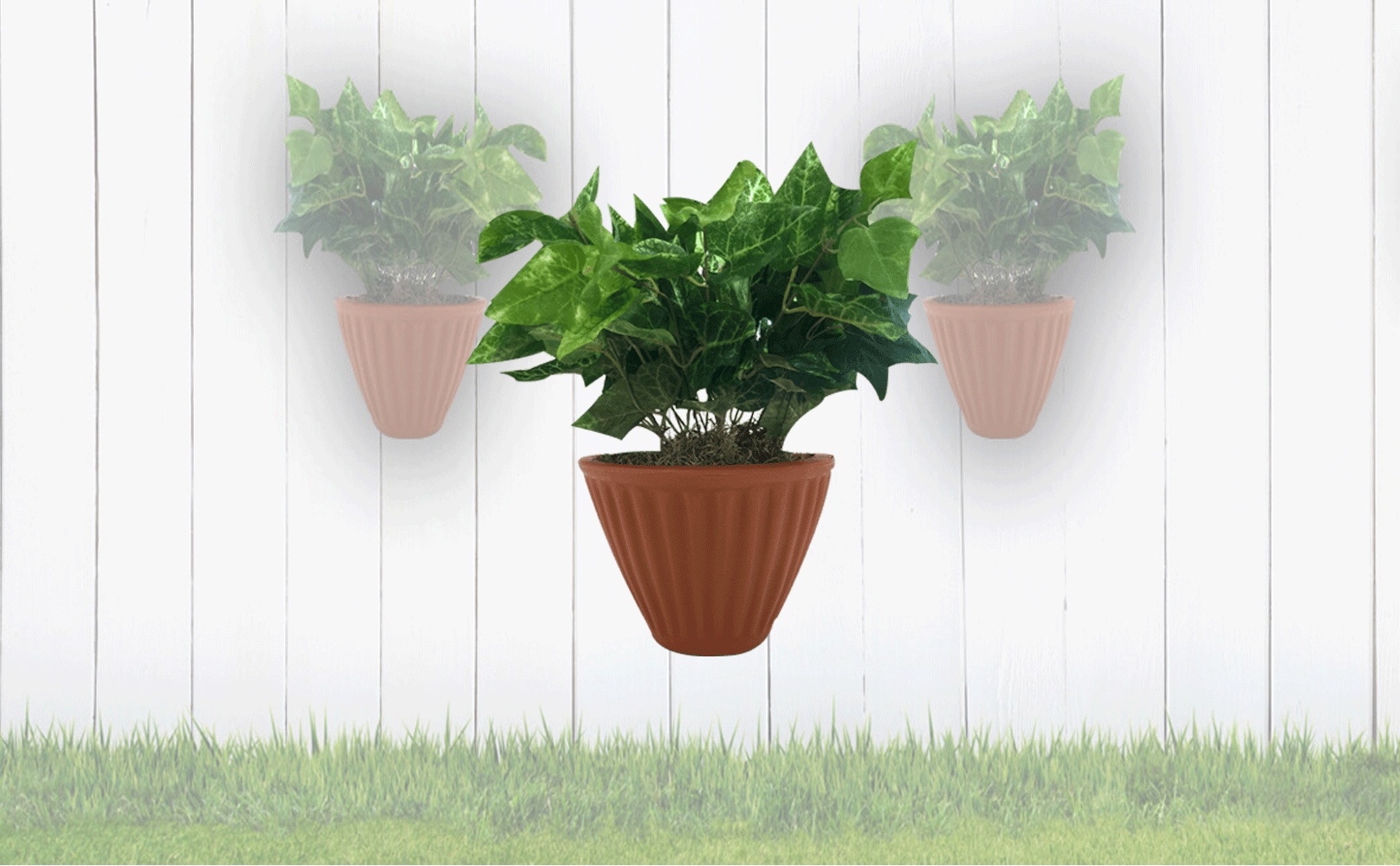 Vertical wall planters.