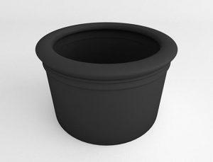 Straight Sided Cylinder-Black-Side