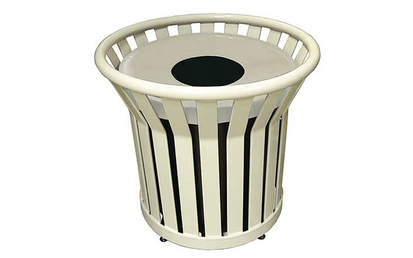 Using Commercial Trash Receptacles to Reduce Litter & Promote Recycling